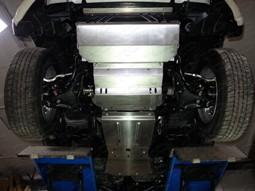 Защита днища алюминий, комплект 4части для Митсубиси L200, 2015-