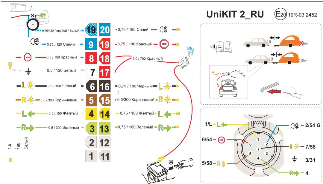 Схема подключения Unikit2: